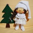 Hómanócska baba, Baba-mama-gyerek, Dekoráció, Karácsonyi, adventi apróságok, Karácsonyi dekoráció, Baba-és bábkészítés, A kis hómanócskám egy kedves kis manócska,aki már nagyon várja az ünnepeket :) Szeme,és a szája hím..., Meska