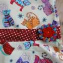 Trendi kislány ruha horgolt virággal és masnival, Ruha, divat, cipő, Gyerekruha, Baba (0-1év), Varrás, Különleges, trendi kislány ruhát varrtam a divatot kedvelő kis csajoknak.   A ruha kiváló minőségű ..., Meska