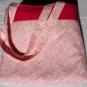 Magenta-rózsaszín virágos táska, Táska, Válltáska, oldaltáska, Tarisznya, Szatyor, , Meska