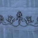 """ETELKÖZI PARASZT ING  M,L,XL,XXL , Ruha, divat, cipő, Magyar motívumokkal, Férfi ruha, Festett tárgyak, Varrás, """"Turul Nemzetség -ruházat a magyarság ősi motívumkincsével.""""  Ez az ing fehér 100% pamutvászonból k..., Meska"""