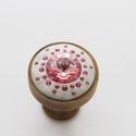 Swarovski kristályból készült fogantyú! - rózsaszín, Otthon, lakberendezés, Dekoráció, Bútor, Fogantyú, Gyurma, Üvegművészet, Swarovski kristályból készült fogantyú!  Egyedi tervezésű swarovski design fogantyú! Szép csillogó,..., Meska