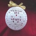 Gömb horgolva, Dekoráció, Karácsonyi, adventi apróságok, Ünnepi dekoráció, Karácsonyfadísz, Karácsonyi dekoráció, Horgolás, Kézzel horgolt gömb.  Kb. 8-12cm átmérőjű.  Különböző mintájúak.  Kiváló dekoráció, vagy karácsonyf..., Meska