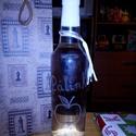 Gravírozott üveg, Férfiaknak, Mindenmás, Sör, bor, pálinka, Üvegművészet, Egyedi mintákkal gravírozott üveg. Bármilyen felirat, minta kérhető, melyet szívesen elkészítek., Meska