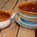 reggeliző készelt (tányér, bögre, müzlistál, sárga), Konyhafelszerelés, Otthon, lakberendezés, Esküvő, Bögre, csésze, , Meska