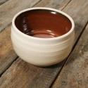 Kerámia  japános teáscsésze (vörös-fehér), Otthon, lakberendezés, Konyhafelszerelés, Bögre, csésze, Kerámia, Fehér agyagból készült, magastűzön (1200 fokon) tömörre égetett japános teáscsésze, repesztett küls..., Meska