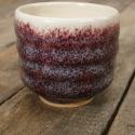 Kerámia  japános kis teáscsésze (lila), Otthon, lakberendezés, Konyhafelszerelés, Bögre, csésze, Kerámia, Fehér agyagból készült, magastűzön (1200 fokon) tömörre égetett japános teáscsésze, kb. 1-1,5 dl. A..., Meska