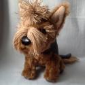 Yorkshire terrier, Játék, Dekoráció, Játékfigura, Varrás, 29 cm -es yorki kutyus, saját tervezés alapján készült. Kézzel mosható. Köszönöm, hogy itt voltál!, Meska