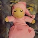 Alvómanó (kisebb), Baba-mama-gyerek, Játék, Képzőművészet, Baba, babaház, Baba-és bábkészítés, Varrás, A baba, a waldorf babák mintájára készül természetes anyagokból.  Töltete gyapjú, ruhája plüss. A b..., Meska