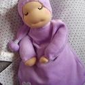 Alvómanó (nagyobb), Baba-mama-gyerek, Játék, Képzőművészet, Baba, babaház, Baba-és bábkészítés, Varrás, A baba, a waldorf babák mintájára készül természetes anyagokból.  Töltete gyapjú, ruhája plüss, vag..., Meska