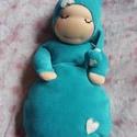 Alvómanó (kisebb), Baba-mama-gyerek, Játék, Képzőművészet, Baba, babaház, Baba-és bábkészítés, Varrás, A baba, a waldorf babák mintájára készül természetes anyagokból.  Töltete gyapjú, ruhája plüss, vag..., Meska