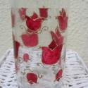 AKCIÓ! tulipános FESTETT ÜVEG pálinkának vagy likőrnek, Otthon, lakberendezés, Képzőművészet , Konyhafelszerelés, Kaspó, virágtartó, váza, korsó, cserép, Festett tárgyak, Üvegművészet, Egyedi festett üveg ajándékba vagy saját részre. Tölthetsz bele bármit: pálinkát, likőröket, szörpö..., Meska