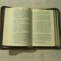 Valódi bőr bibliatok Újszövetségi Szentírásra, Mindenmás, Képeslap, album, füzet, Vallási tárgyak, Jegyzetfüzet, napló, naptár, Bőrművesség, Monogrammal vagy szimbólummal díszített cipzáras valódi bőr tok 15,8 x 10 cm méretű, 2 cm vastag Bi..., Meska