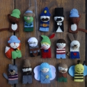 Pinokkió filc ujjbáb készlet, bábszínház, filcbáb, Játék, Báb, Játékfigura, Plüssállat, rongyjáték, Varrás, Dóri kérésére készítettem el az 1986-os Pinokkió meséhez tartozó szereplőket ujjbáb formájában...de..., Meska