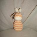 Horgolt kis zebra, Játék, Játékfigura, Plüssállat, rongyjáték, Horgolás, Horgolt kis zebra Aranyos , édes, igazi kedvenc minőségi fonalból készült, pihe puha  kb. 15 cm mag..., Meska