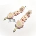 Rózsaszín-fehér sujtás fülbevaló, Esküvő, Ékszer, óra, Esküvői ékszer, Fülbevaló, Ékszerkészítés, Menyasszonyoknak, de akár egy elegáns kosztümhöz vagy világos felsőhöz is tökéletes viselet lehet e..., Meska