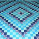 Türkiz patchwork takaró francia ágyra, Otthon, lakberendezés, Lakástextil, Falvédő, Takaró, ágytakaró, Varrás, Patchwork, foltvarrás, méret: 200x200cm Az anyagot varrás előtt kimostam, tehát nem fog összemenni( be van avatva) A bélés..., Meska