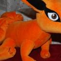 Kyuubi, a kilencfarkú róka , Játék, Mindenmás, Plüssállat, rongyjáték, Furcsaságok, Naruto kilencfarkú rókája puha plüssből.  Teste a fejjel együtt 45 cm, a farkával együtt 80 cm.  Sze..., Meska