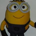 Minion (Minyon) plüss, Játék, Mindenmás, Plüssállat, rongyjáték, Furcsaságok, A Gru és a Minyonok című animációs film kedvence puha plüssből.  Ez a minion Kb. 30 cm magas állva. ..., Meska