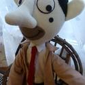 Mr. Bean plüss, Játék, Mindenmás, Plüssállat, rongyjáték, Mr, Bean puha plüssből, Teddyvel. :)  Mr. Bean kb. 65 cm magas.Ruhái levehetőek, szeme filcből van v..., Meska