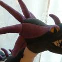 """Ölvész sárkány plüss, Játék, Mindenmás, Plüssállat, rongyjáték, Furcsaságok, Varrás, Az """"Így neveld a sárkányodat"""" című animációs film egyik sárkánya puha plüssből.  Ölvész kb. 65 cm h..., Meska"""