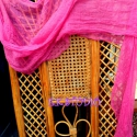 Szivárvány ihlette sál, Ruha, divat, cipő, Kendő, sál, sapka, kesztyű, Sál, Festett tárgyak, Varrás, Géz sál készült,textilfestéssel,gyönyörű sötét ciklámen színnel.Nagyon jó kiegészítője bármelyik ru..., Meska