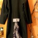 ŐSZI AKCIÓ! - Szürkülő időben, Ruha, divat, cipő, Női ruha, Kabát, Foltberakás, Varrás, Novemberben minden kabát,karigán -500 Ft kedvezménnyel elvihető a megjelölt árból!  Hosszú,két soro..., Meska