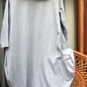 Nem csak szürkében! - tunika, Ruha, divat, cipő, Női ruha, Ruha, Varrás, Festett tárgyak, (Más színben ,méretben is kérhető darab!) Pamut ruha,alján szokatlan formára szabva.Kényelmes,lezse..., Meska
