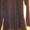 Hálós Design, Ruha, divat, cipő, Női ruha, Ruha, Festett tárgyak, Varrás, Fekete hálós tunika,loncsos aljjal,szélein hosszabbra hagyva. Lila vagy szintén fekete alsó ruhával..., Meska