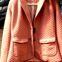 Rozsdás alkony, Ruha, divat, cipő, Női ruha, Kabát, Varrás, Festett tárgyak, Rozsdás,antik színű, bélelt kis kabát, szögletes aljúra alakítva.  A kabátka belső oldalán  visszah..., Meska