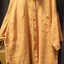 Shaolin köpeny, Ruha, divat, cipő, Női ruha, Festett tárgyak, Varrás, A narancssárga a buddhista szerzetesek ruhájának színeként a láng,a megvilágosodás fénye... Ha szer..., Meska