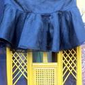 Mini fekete, Ruha, divat, cipő, Női ruha, Szoknya, Foltberakás, Varrás, Fekete,pöttyös tüll anyag rátéttel készült,mini szoknya,alsó része szatén anyag.Cipzáros derékkal c..., Meska