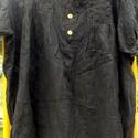 Tavaszváró tunikák- Fekete, Ruha, divat, cipő, Női ruha, Blúz, Festett tárgyak, Foltberakás, Tavalyról megmaradt,tavaszváró tunikák: Egy kis fekete:vékony blúz,fekete színnel festve,fa gombocs..., Meska