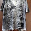 """Nemes-penész / Kérj egy sálat !, Ruha, divat, cipő, Női ruha, Felsőrész, póló, Festett tárgyak, Foltberakás, Január végéig,AJÁNDÉK géz sállal kérhető, tetszés szerinti színben (150x50) ! -Ezt a ruhát """"megette..., Meska"""