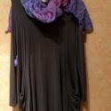 Szürkületben / Kérj egy sálat !, Ruha, divat, cipő, Női ruha, Ruha, Festett tárgyak, Varrás, Minden ruhához egy géz sálat kérhetsz,bármilyen színben (150x 50) AJÁNDÉKBA !- Január végéig. Sötét..., Meska