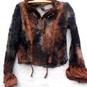 Sárarany + AJÁNDÉK bőr karkötő !, Ruha, divat, cipő, Női ruha, Ruha, Blúz, Varrás, Festett tárgyak, Tavaszodik: elolvadt hó,utána maradt sár, rozsdás, barna színek a földön.Minden színárnyalat  megta..., Meska