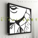 kép: pop-art: Roy Lichtenstein: Face, Dekoráció, Képzőművészet, Kép, Grafika, Fotó, grafika, rajz, illusztráció, Mindenmás, P55 - partFACE  Roy Lichteinstein képe alapján   P55 pictures: Akril felületű faforgácslapra, vinyl..., Meska