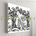 kép: Cycle Perfecta  [Alfons Mucha], Dekoráció, Képzőművészet, Kép, Grafika, Fotó, grafika, rajz, illusztráció, Mindenmás, P55 cyclCYPE  Alfons Mucha: Cycles Perfecta képe alapján   P55 pictures: Akril felületű faforgácsla..., Meska