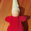 Piros ruhás waldorf marok manó , Játék, Baba-mama-gyerek, Plüssállat, rongyjáték, Baba játék, Puha kis manó a legkisebbeknek!  Teste puha gyapjúval van tömve, almazöld sapkája és piros ruhája pe..., Meska
