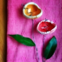 Kerámiavirág piros, Dekoráció, Húsvéti apróságok, Otthon, lakberendezés, Ünnepi dekoráció, Kerámia, Gondosan formált egyedi tervezésű örök virágszál. Színes foltja lehet egy egyszerű csokornak. Szára..., Meska