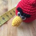 Angry Bird 1., Játék, Játékfigura, Horgolás, Pamutfonalból, poliészter töltőanyaggal készült, 30 fokon mosható. Szemei mozognak. :), Meska