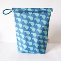 Lunch bag-ételhordó táska, Baba-mama-gyerek, Táska, Konyhafelszerelés, Baba-mama kellék, Varrás, Vízálló, lemosható ételhordó táska. Az eldobható műanyagzacskók alternatívája, így környezetbarát. ..., Meska