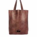 Leather Tote Bag / Bőr táska, Táska, Válltáska, oldaltáska, Varrás, - made in Hungary - 100%  marha bőr - 42cm H / 32cm W / 10cm D - zipzárral zárható - belül lebegő z..., Meska
