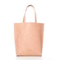 Nude Leather Tote Bag, Táska, Válltáska, oldaltáska, Varrás, - made in Hungary - 100%  marha bőr - 43cm H / 42cm W / 10cm D - belül zipzárolató zseb - a táska e..., Meska