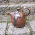 Opálkék teáskanna, Otthon, lakberendezés, Konyhafelszerelés, Kancsó , Kerámia,  Magas tüzű ( 1240 fokon égetett)korongozott kerámia teáskanna. Az egyedi mázkeverésnek köszönhetőe..., Meska