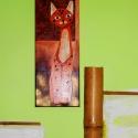 Cicás festmény, Dekoráció, Baba-mama-gyerek, Képzőművészet , Festmény, Festészet, Vászonra készült, akril festékkel készített gyönyörű,színes festmény. Vegyes technika alkalmazásáva..., Meska