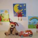Maci  3D-s vászonkép AKCIÓ!!, Baba-mama-gyerek, Gyerekszoba, Baba falikép, Festészet,  Az általam megtervezett mese képek,feszített vászonra, akrillal festettem fel. Gyönyörű élénk szín..., Meska