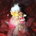 AKCIÓ!! Karácsony tündér, Dekoráció, Otthon, lakberendezés, Karácsonyi, adventi apróságok, Ünnepi dekoráció, Varrás, Mindenmás, A tündérek, melyek porcelánból készültek szépen, különlegesen, mindegyik egyedileg, kézzel készítet..., Meska