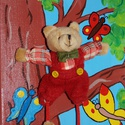 Maci a fán- 3D-s vászonkép, Dekoráció, Gyerekszoba, Baba falikép, Festészet, Feszített vászonra akrillal festett kép. Gyönyörű élénk színeivel, kedves formáival és figuráival a..., Meska