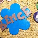 kék kerámia falikép, Otthon, lakberendezés, Baba-mama-gyerek, Baba-mama kellék, Gyerekszoba, Festészet, Kerámia,  Fehér kerámiából készültek a betűk, melyeket tetszés szerinti színvilágra és stílusra elkészítem. ..., Meska