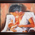festmény- Anya gyermekével, Dekoráció, Képzőművészet , Festmény, Olajfestmény, Festészet, Úgy gondolom a kép önmagáért beszél....:) A festmény kiállításra is be lett válogatva. Kép mérete k..., Meska
